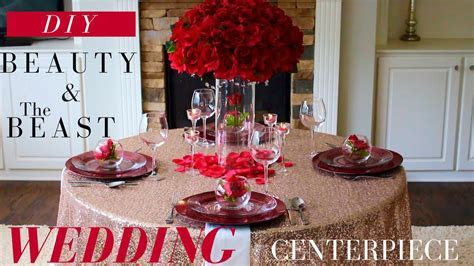 DIY Beauty & The Beast Centerpiece   Dollar Tree Wedding