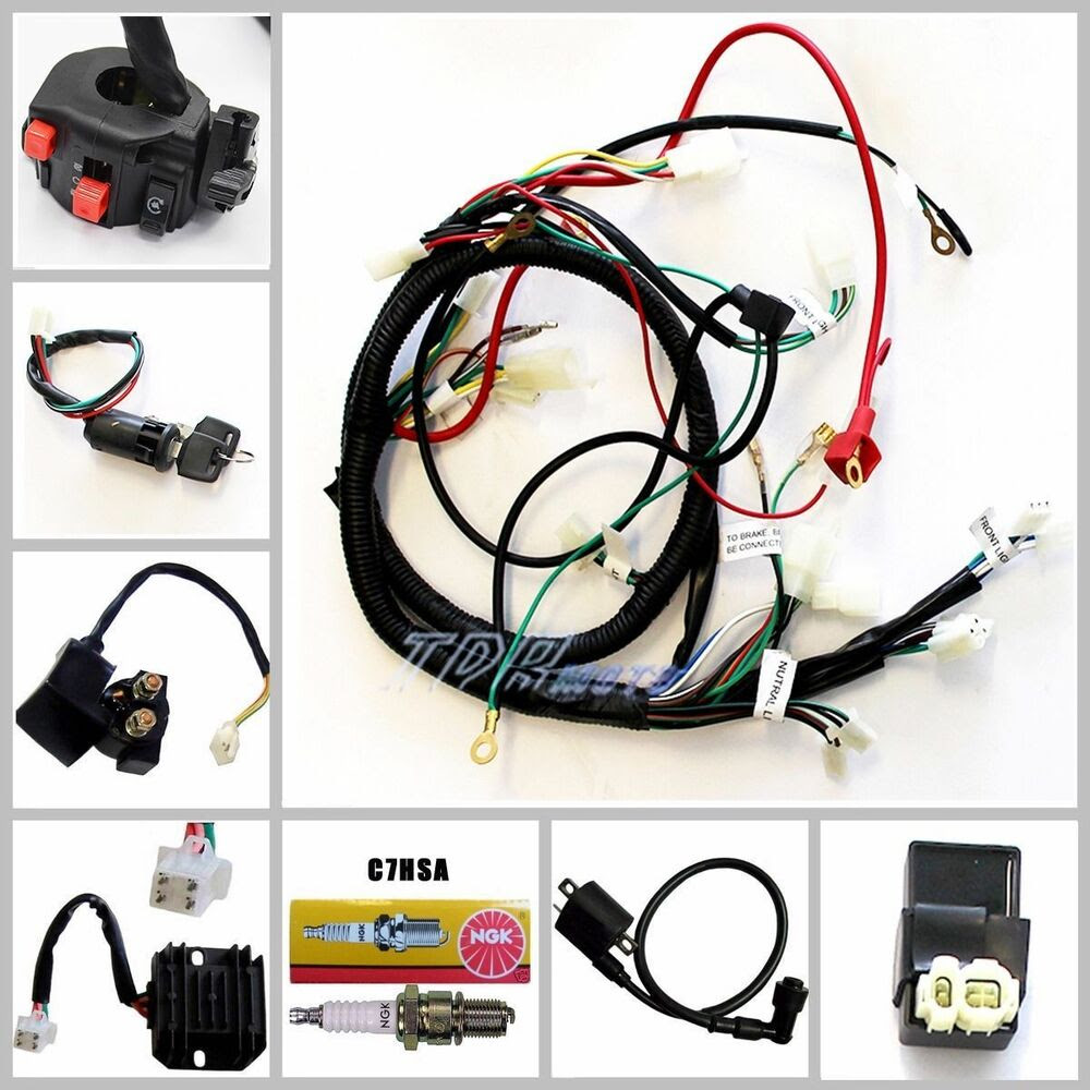 CHINESE GY6 150CC ATV QUAD WIRE HARNESS WIRING ASSEMBLY ...