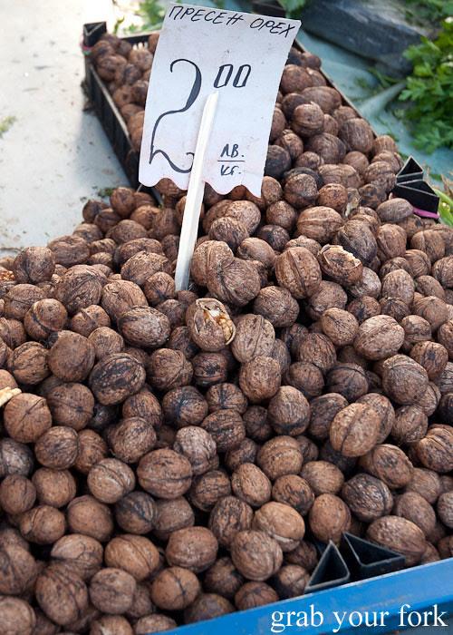 walnuts at Zhenski Pazar Jenski Pazar Women's Market Sofia