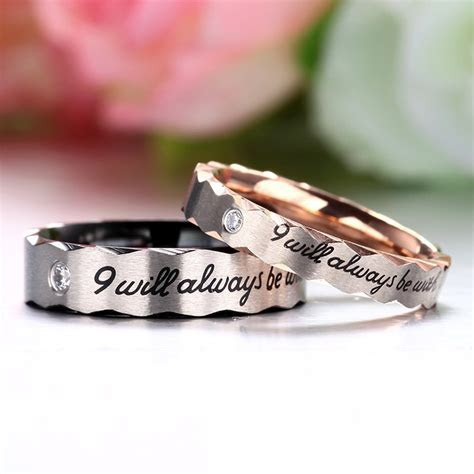 """""""I will Always be with You""""Fashionable 316L Titanium"""