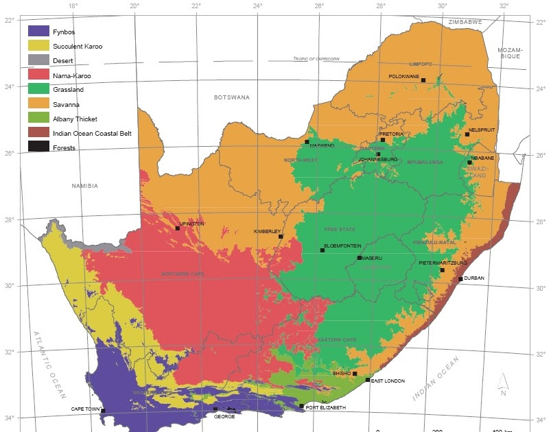 Barking At The Moon Biomes Map Of Southern Africa