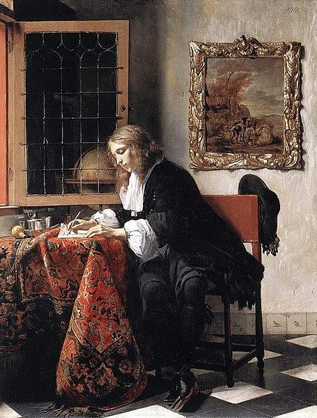 File:Gabriel Metsu - Man Writing a Letter.JPG