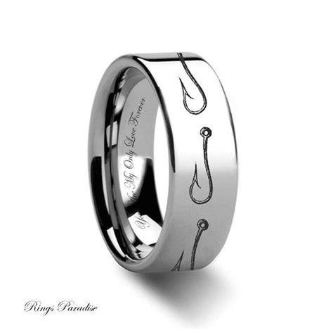 Tungsten Wedding Band, Tungsten Ring, Hook Tungsten Ring