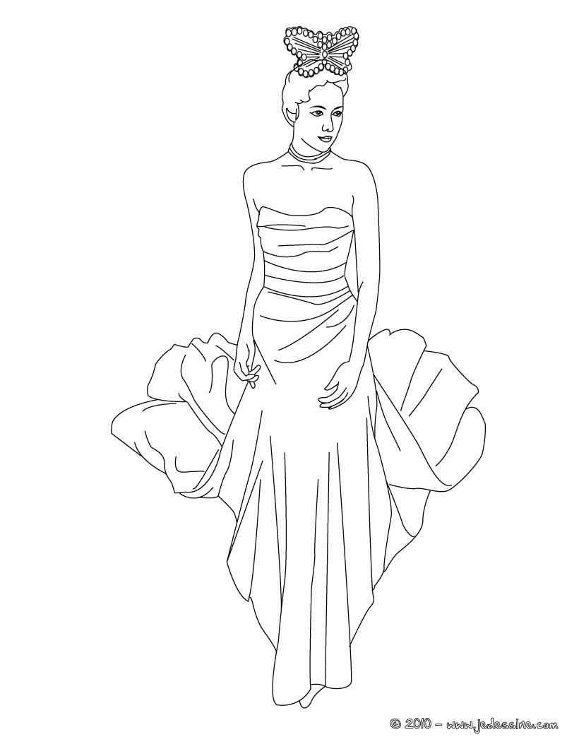Belle Coloriage Robe De Mariee A Imprimer | Imprimer et Obtenir une Coloriage Gratuit Ici