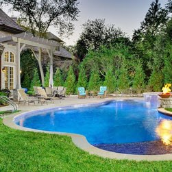 Freeform Shape Swimming Pool Design Ideas, Pictures, Remodel and Decor