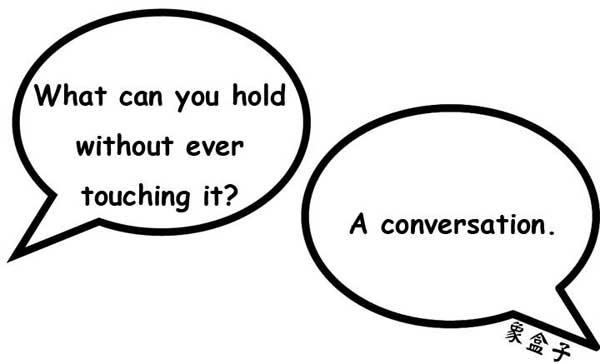conversation riddle