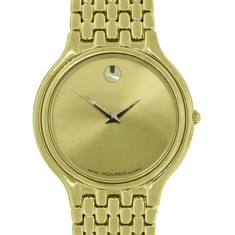 Movado 87.e2.866 Gold Plated Museum Men's Watch