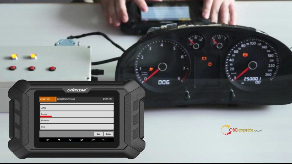 Obdstar Odo Mästare VW Passat vägmätare Correction 07