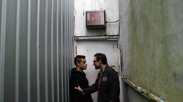 Rami Malek and Christian Slater in Mr. Robot