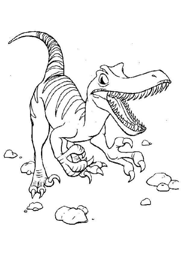 Dibujos Para Colorear Velociraptor Eshellokidscom