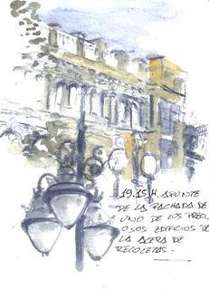 35 sketchcrawl in Valladolid. 19.15H. Acera de Recoletos