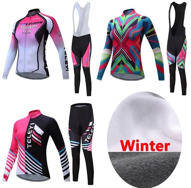 Mountain Road Bike  Discount Pro Women 2019 Winter Thermal Fleece Cycling  Jersey Racing Bike Clothing Bicycle Clothes Uniform Mtb Maillot long Wear  shirt ... 886422a17
