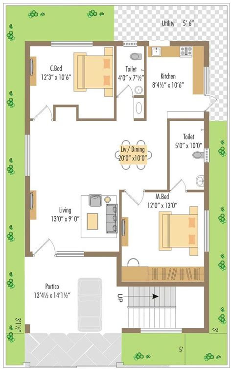 west facing small house plan google search ideas
