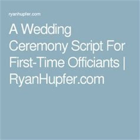 25  best ideas about Wedding Officiant Script on Pinterest