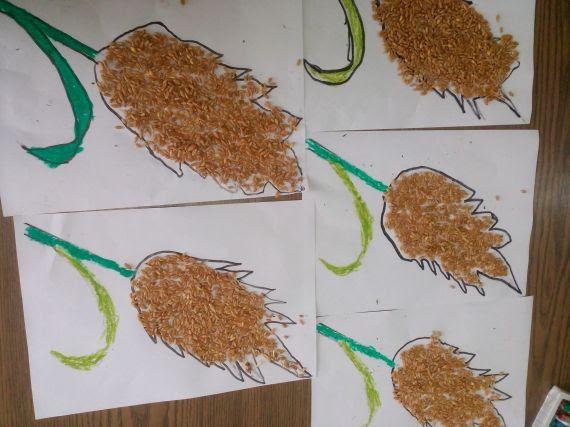 Vitamin Deposu ülkem Projesinde Buğday Başakları Yaptık Eğitim
