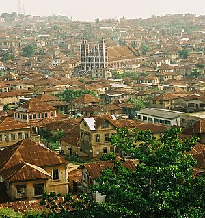 Abeokuta, Nigeria, from the top of Olumo Rock