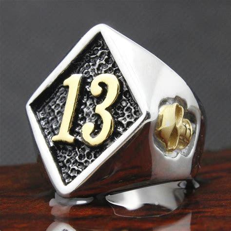 fashion biker rings cool  stainless steel golden skull