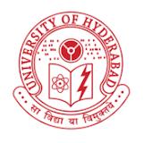 Hyderabad University Admission Notification 2018