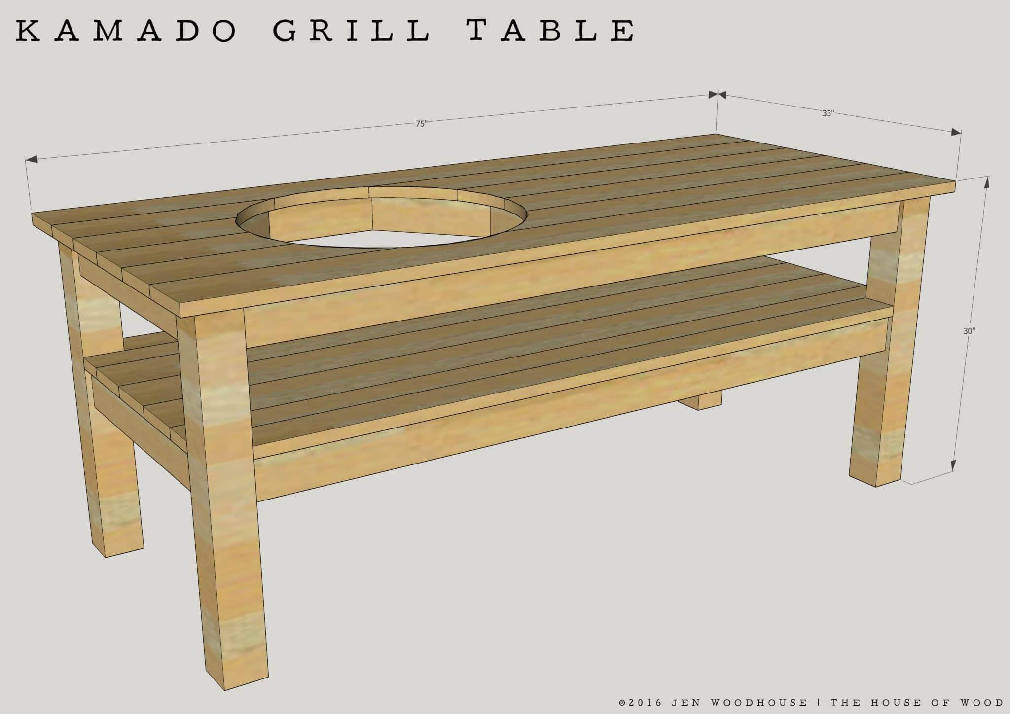 DIY Kamado Grill Table