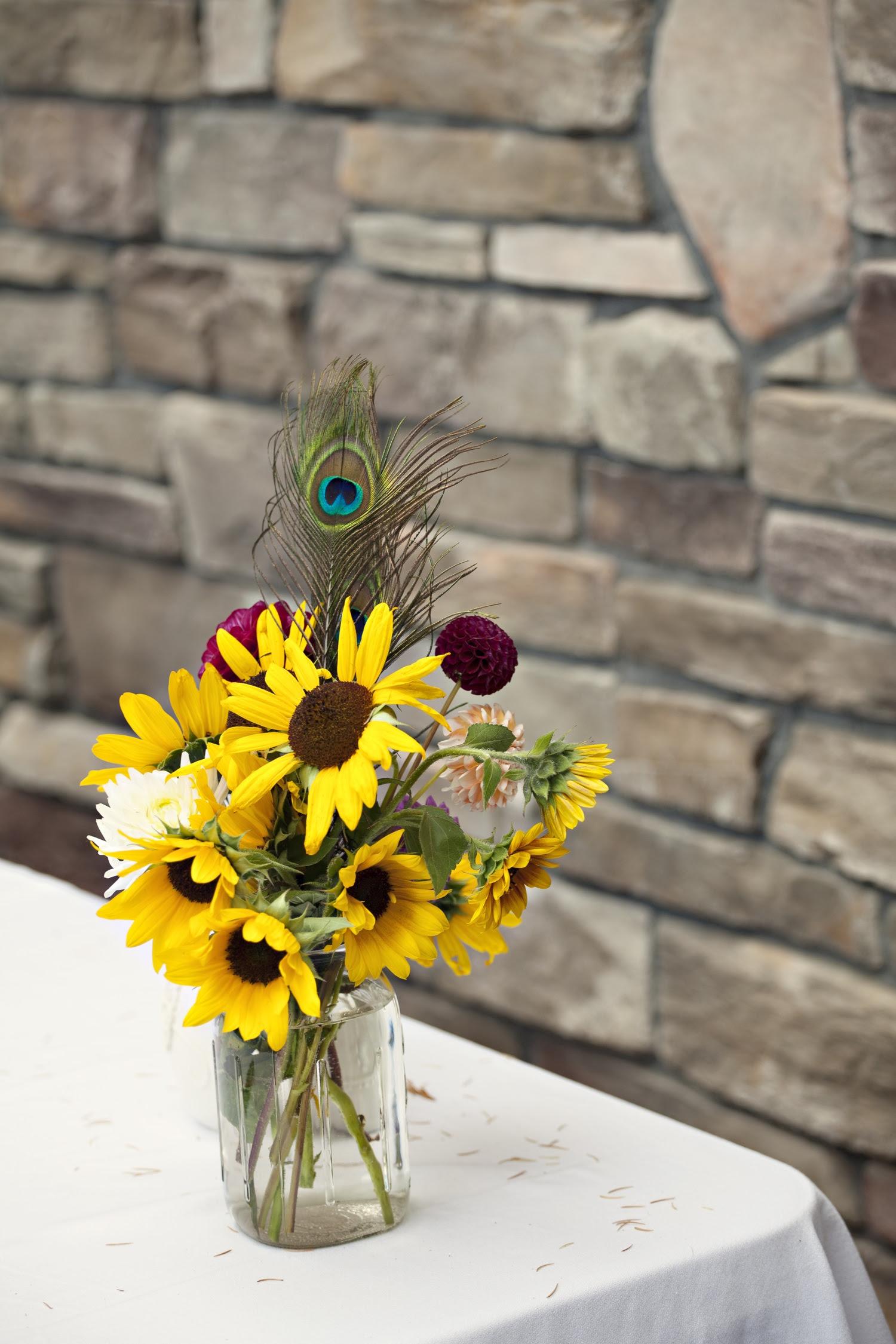 Sunflower wedding ce