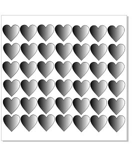 42 / 4 cm hearts  Chipboard   will came bagged .  Chipboard Sign