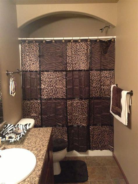 bathroom brown  cheetah decor love