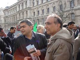 Sindhis And Baloch's Protest out side the 10 Dowing Street