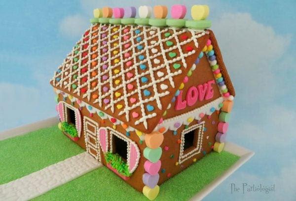 Valentine Love Shack Gingerbread House
