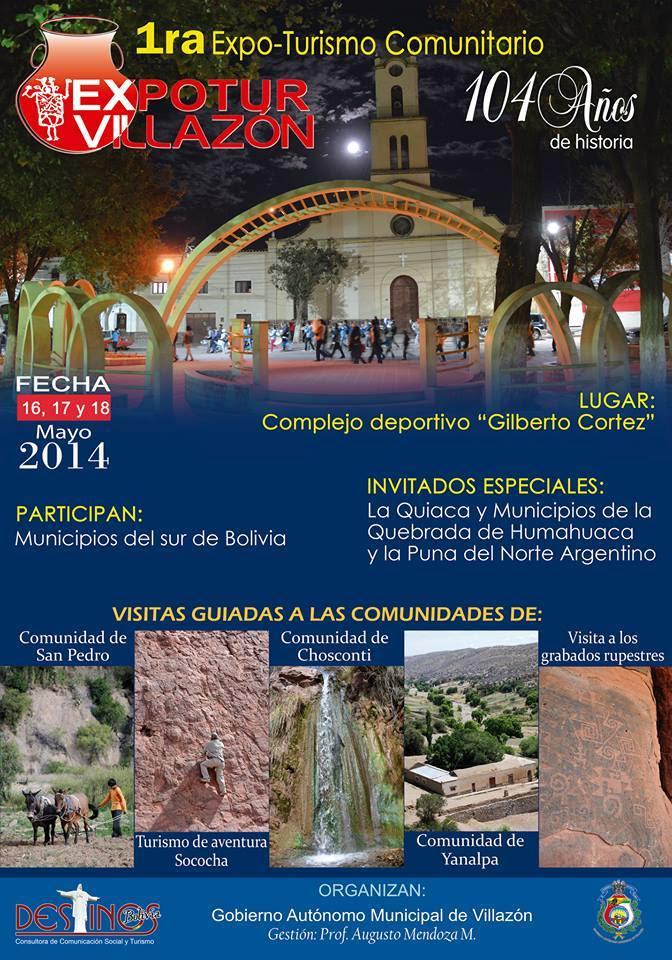 1ra. Expo-Turismo Comunitario Villazón 2014