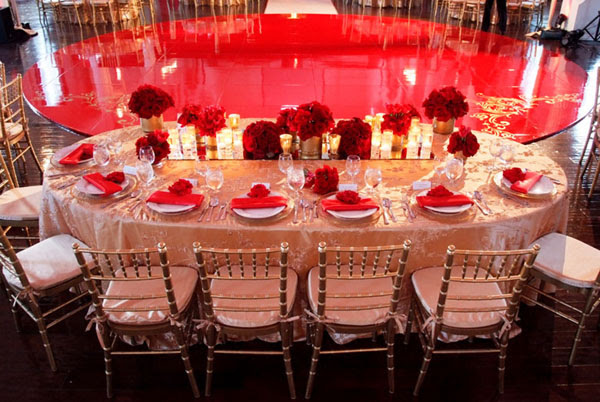 Red And Gold Wedding Table Decorations Red Gold Fall Wedding Theme