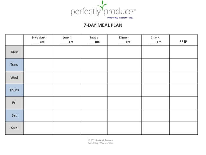 1000+ images about Meal Plan on Pinterest   Weekly meal plans ...