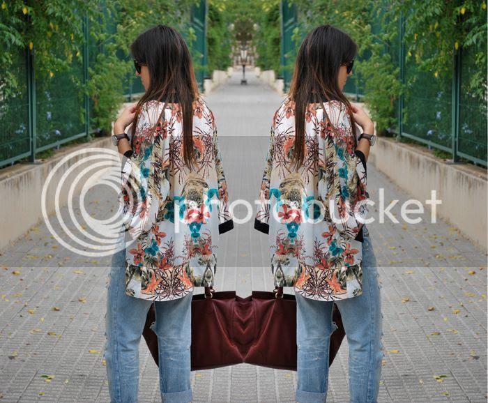 BoyfriendJeans+Kimono StreetStyle