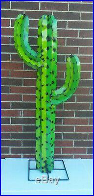 Metal Yard Art Saguaro Cactus Sculpture 52 (4′ 4) Tall Two ...