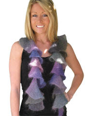 Spiral Scarf Winter Knit Pattern - Electronic Download