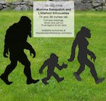 Bigfoot Family of Sasquatch Yard Art Woodworking Pattern Set - fee plans from WoodworkersWorkshop® Online Store - bigfoot,sasquatch,yard art,painting wood crafts,scrollsawing patterns,drawings,plywood,plywoodworking plans,woodworkers projects,workshop blueprints