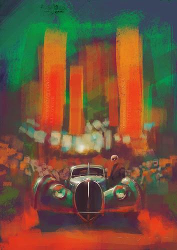 Bugatti Atlantic by Stefan Marjoram