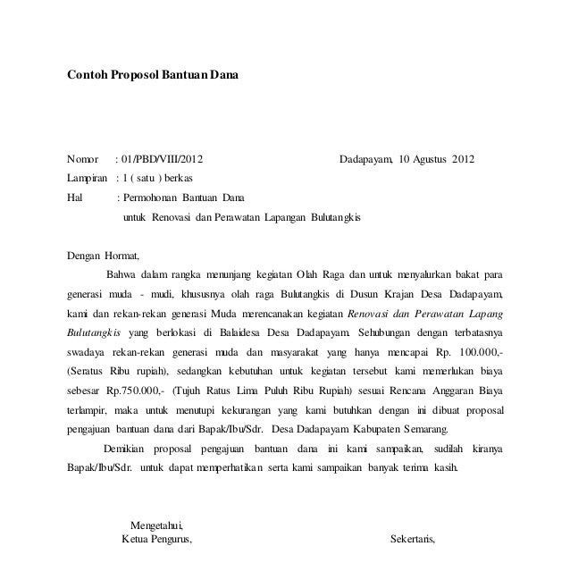 Contoh Proposal Pembangunan Tribun Lapangan Sepak Bola Pdf
