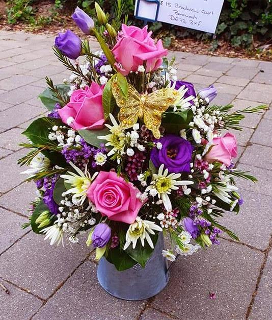 Simply Flowers Nottingham Flower Arrangements Planted Basket Table Decorations Ceramic Planters