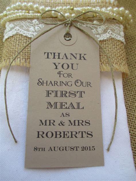 Wedding Napkin Ties Rustic Wedding Table Decor Tags