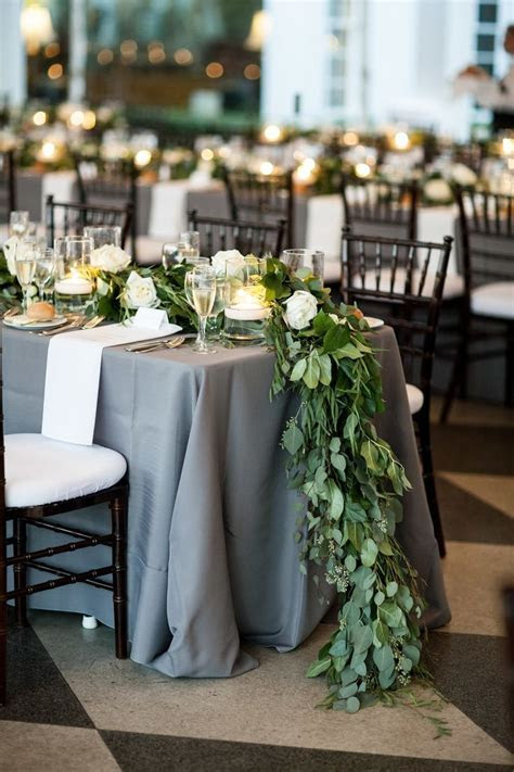 Rustic and Elegant Tampa Yacht Club Wedding   Tablecloths