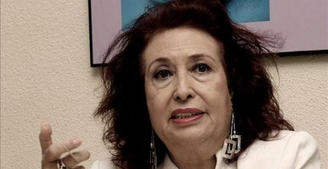 Lidia Falcón, en una imagen de su página web.