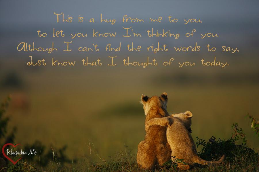 Sending Hugs Quotes. QuotesGram