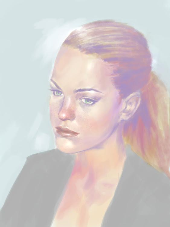 high key portrait painting