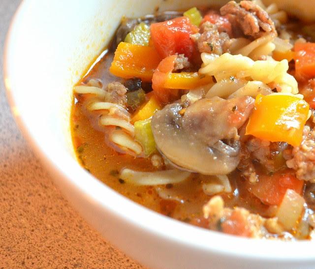 Lazy Sunday Sausage & Mushroom Soup @ Savory Tart
