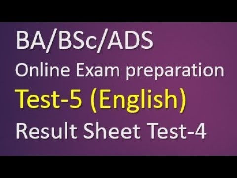 Bsc English MCQs Paper