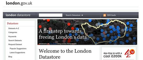 London Datastore Front Page