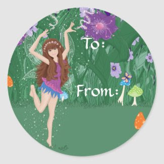 Jen the Dancing Flower Fairy Stickers