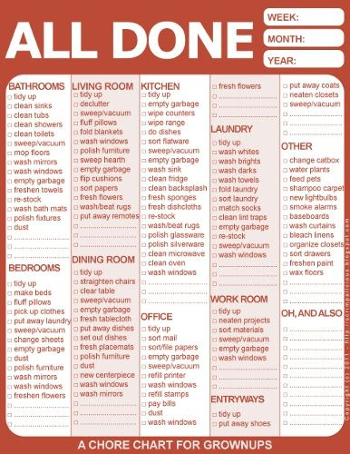1000+ ideas about Adult Chore Chart on Pinterest | Weekly cleaning ...