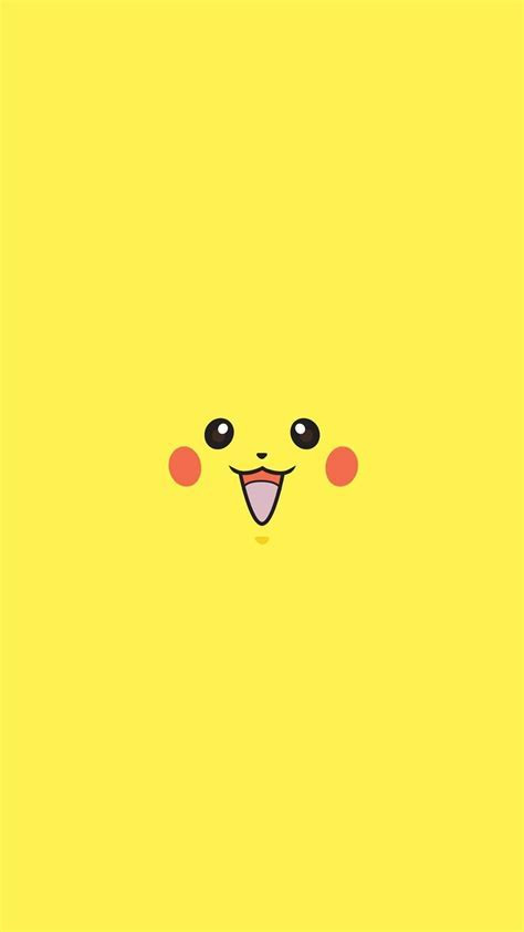 Pikachu Pokemon Go Character Minimal Android Wallpaper