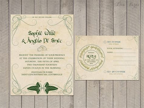 Lord of the Rings Wedding Invitations: Part One   The